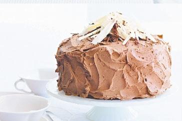 Chocolate hazelnut cake with fluffy frosting