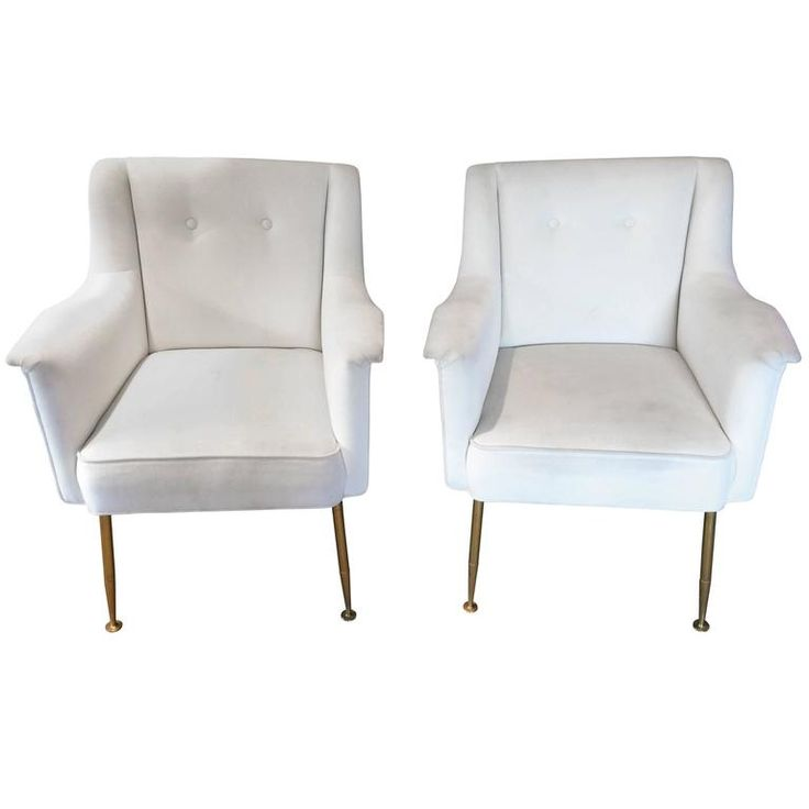 Ultra Chic Pair of Mid-Century Modern Italian Lounge Club Chairs | From a unique collection of antique and modern lounge chairs at https://www.1stdibs.com/furniture/seating/lounge-chairs/