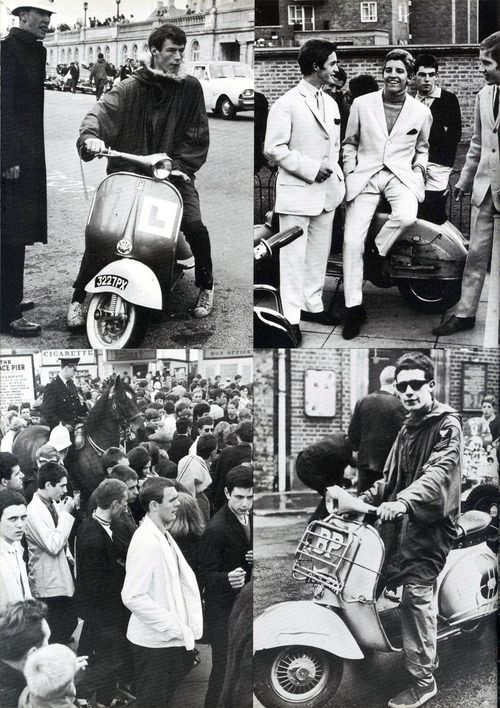 Mods, Hastings, England, 1964