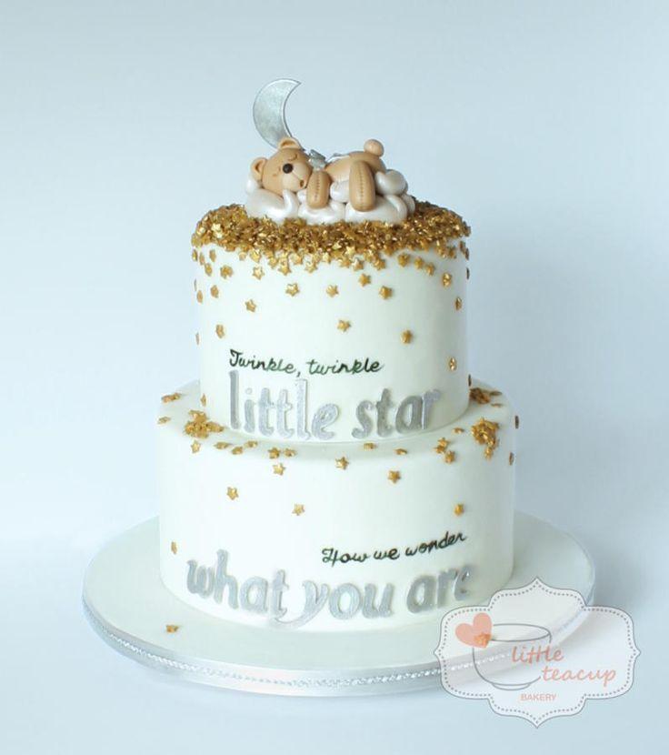 Sequin Gender Reveal or for a twinkle twinkle little star party! - Cake by Jen La - Little Teacup Bakery