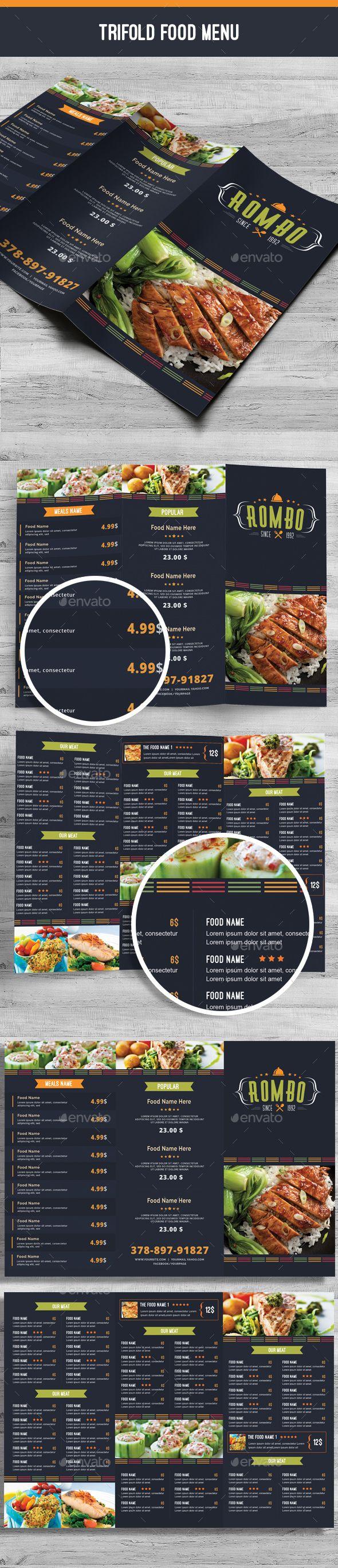 455 best Trifold Restaurant Menu Template images on Pinterest ...