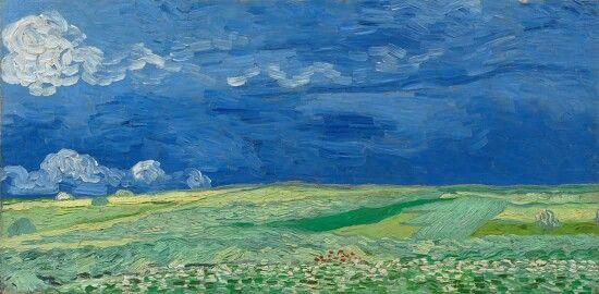 """""""Hveteåker under tordenskyer"""" - Vincent van Gogh, juli 1890."""
