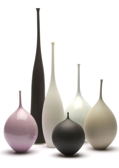 Sophie Cook porcelain. These vases are supremely elegant!