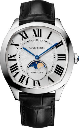 Reloj Drive de Cartier Fases Lunares Acero, piel
