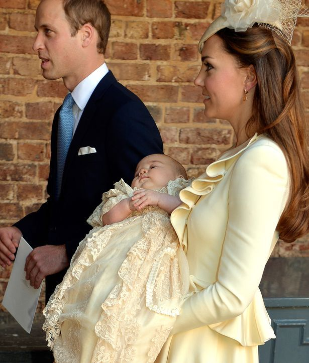 Hand-me down: Princess Charlotte will be wearing the same gown as Prince George