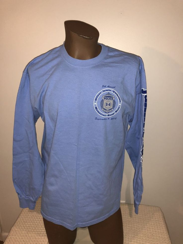 Quincy Massachusetts Police Memorial Large Long Sleeve Tshirt MA  | eBay