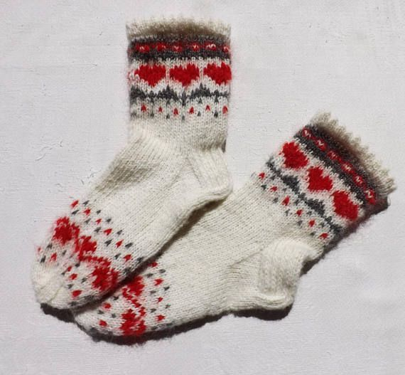 Handknitted socks Mohair socks Womens socks Wool socks White