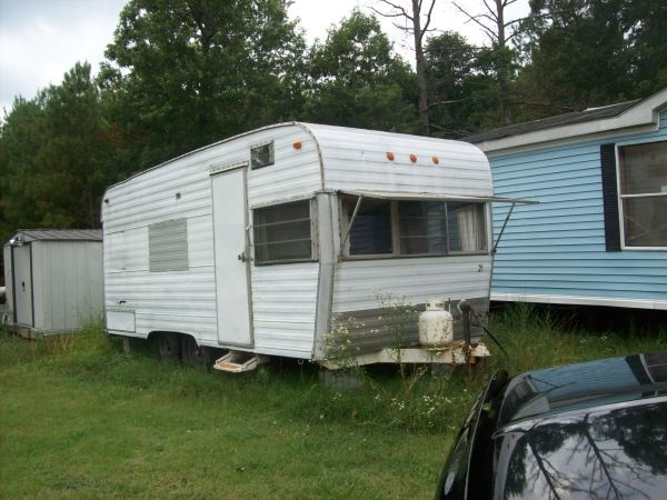 1970 Yellowstone Camp trailer: BEFORE picture. Listed Oct ...