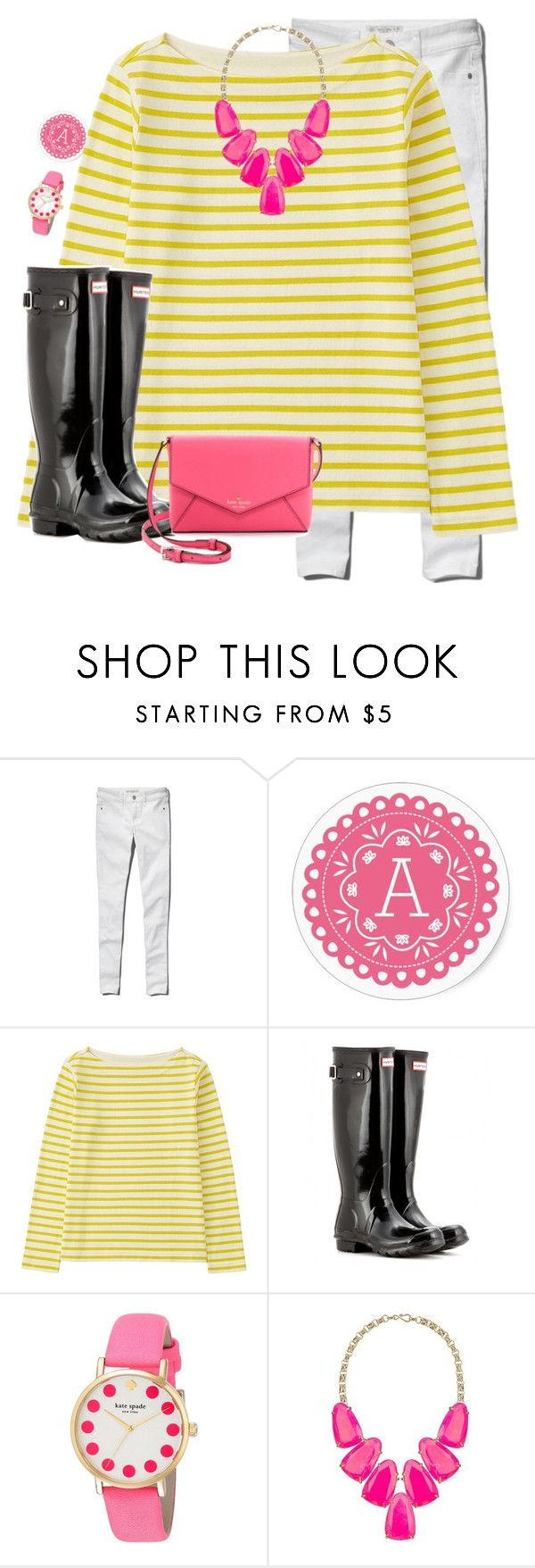 """""""Well if you want to give us a two hour delay, I'm fine with that """" by avamariebrown ❤ liked on Polyvore featuring Abercrombie & Fitch, Uniqlo, Hunter, Kate Spade, Kendra Scott, women's clothing, women's fashion, women, female and woman"""