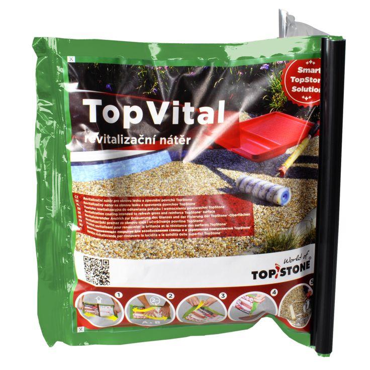 V našem revolučním balení TopStone Twinpack nakoupíte již také revitalizační nátěr TopVital - revitalizační nátěr, který obnoví lesk a prodlouží životnost povrchu TopStone, Balení 1 kg Vám vystačí cca na 3,33m2. https://eshop.topstone.cz/top-vital-revitalizacni-nater-twi… #topstone #kamennýkoberec #mramorovýkoberec #exteriér #revitalizačnínátěr #prodlužuježivotnost