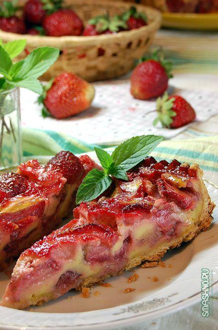 пирог с клубникой / cake with strawberries
