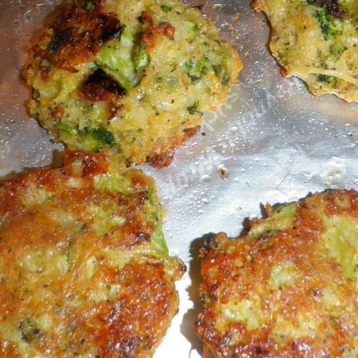 Baked Brocolli Patties this was my nephews fav