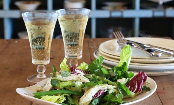 Cider Poached Chicken, Asparagus and Mayonnaise - Maggie Beer