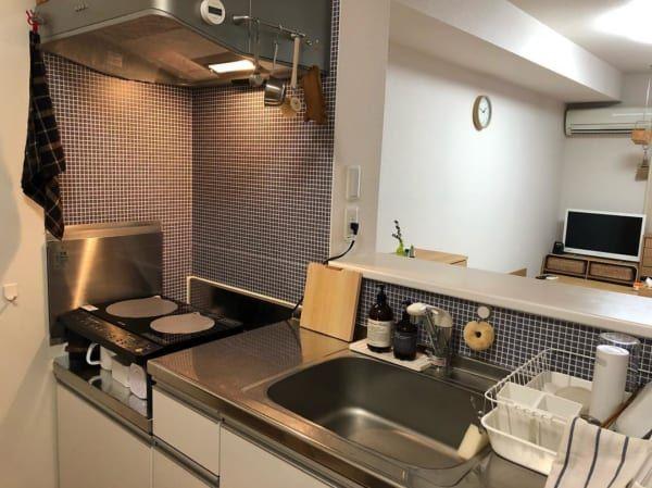 コンパクトでもおしゃれで使いやすく 一人暮らしのキッチンインテリア Folk キッチン おしゃれ インテリア キッチン