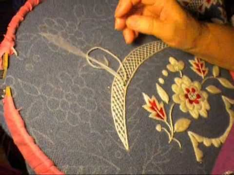 Tutorial Bordado en Lana - María García- - YouTube