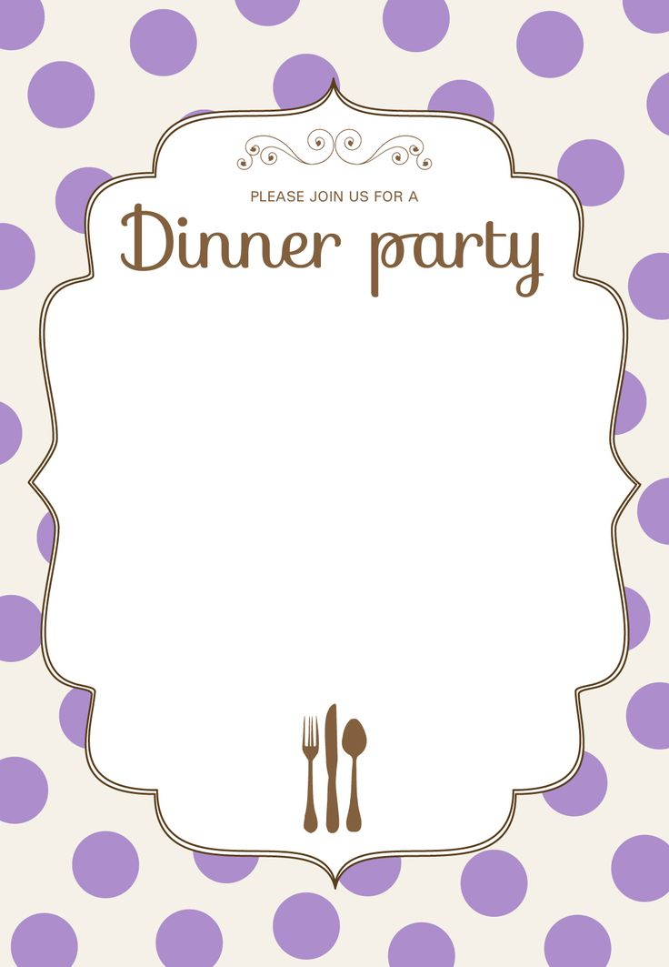 109 best Progressive party ideas images on Pinterest Deko - free dinner invitation templates
