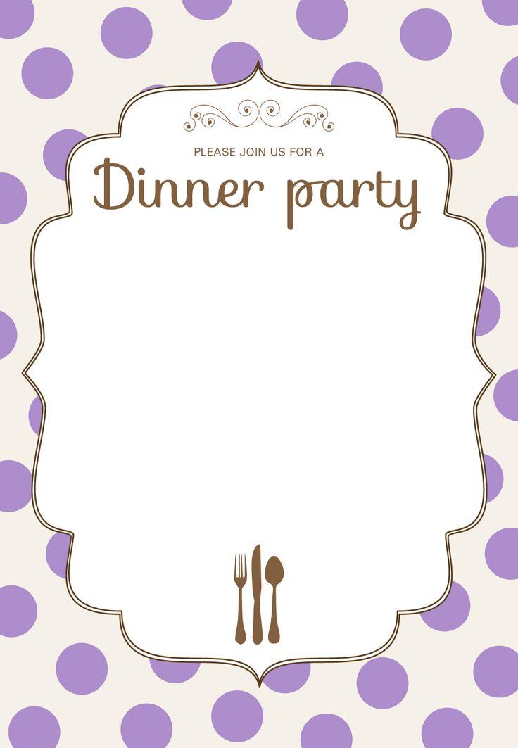 Perfect Birthday Dinner Invitation Templates Illustration ...