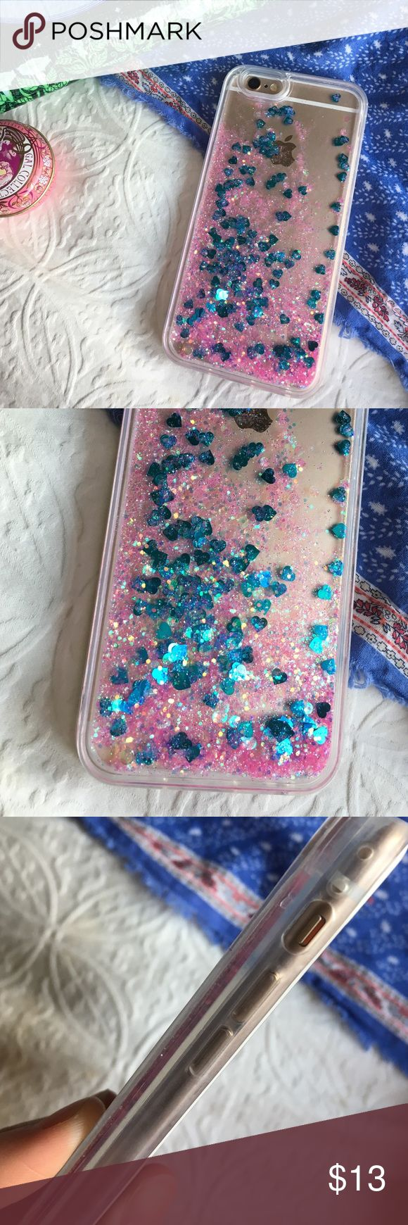💘glitter phone case💘 ✨brand new ✨pink and blue sparkle water case ✨for iphone 6/6s ✨protects back of phone from scratches ✨not from listed brand-only for exposure ✨no lowballing please ✨ships next day excluding sundays 🍥Make an offer!🍥 tags: sparkles, cotton candy, turquoise, pretty, artsy, protective, otter box, speck, hearts, heart, brandy melville, urban outfitters, violet, tumblr, cool, apple, gift, pearlescent, holographic, translucent, transparent, clear, Brandy Melville…