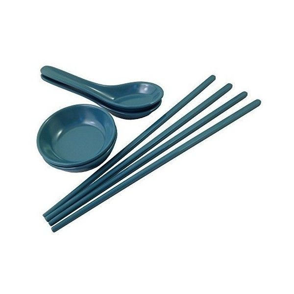 ZAK Designs Asian Food Serving Set 8-piece Plastic Chopsticks, Soup... ❤ liked on Polyvore featuring home, kitchen & dining, flatware, plastic chop sticks, plastic utensils, plastic chopsticks, zak utensils and plastic silverware