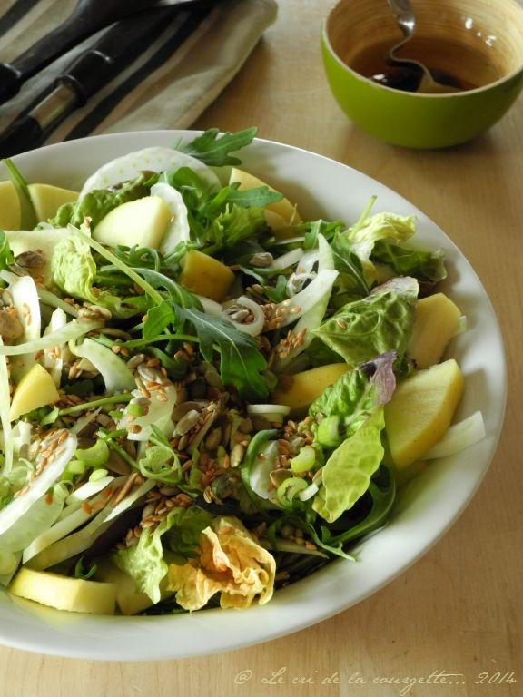 Salade de fenouil et pomme aux graines {graines de courge, fenouil, tournesol…}   Blog de cuisine bio : Le cri de la courgette...