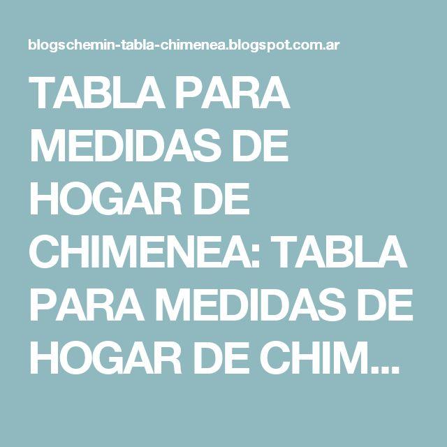 TABLA PARA MEDIDAS DE HOGAR DE CHIMENEA: TABLA PARA MEDIDAS DE HOGAR DE CHIMENEA