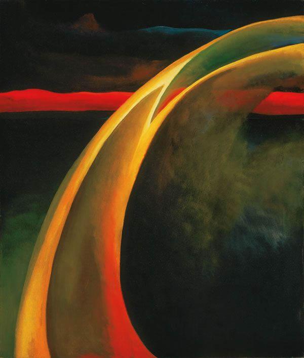 Georgia O'Keeffe, Red & Orange Streak, 1919, Oil on canvas. Philadelphia Museum of Art, Bequest of Georgia O'Keeffe for the Alfred Stieglitz Collection.