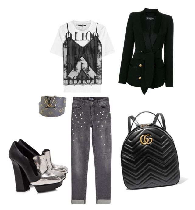"""""""Sunday"""" by madisonkiss on Polyvore featuring Karl Lagerfeld, Supreme, Gucci, Alexander McQueen, Balmain and McQ by Alexander McQueen"""
