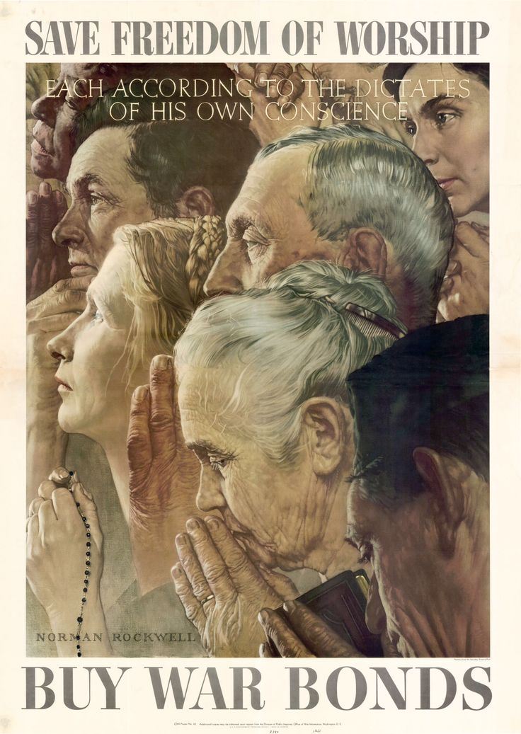 Norman Rockwell, Freedom of Worship, 1943