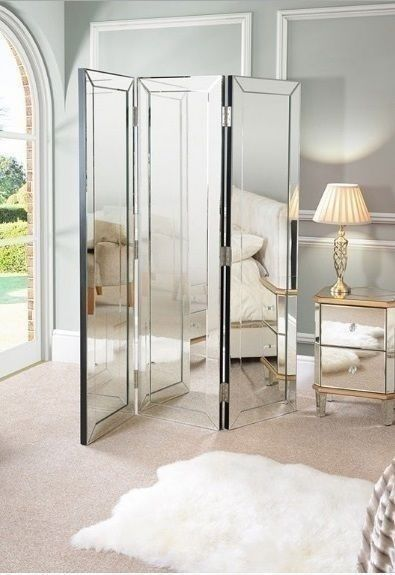 Large Floor Standing Mirror Folding Contemporary Bed Room Furniture Sewing Panel  | eBay