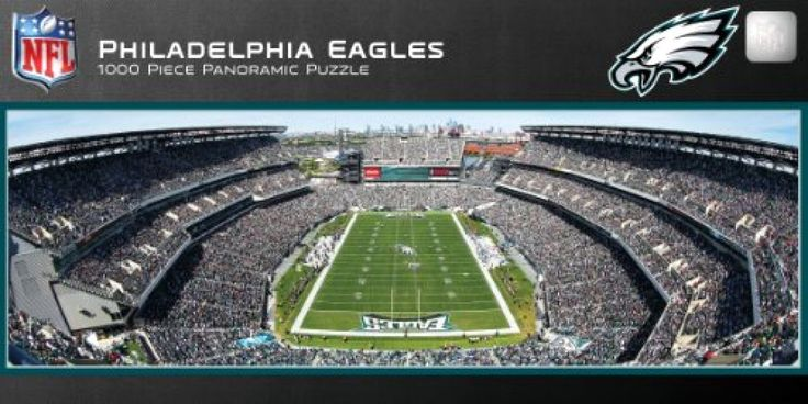 MasterPieces NFL Philadelphia Eagles Stadium Panoramic Jigsaw Puzzle 1000-Piece