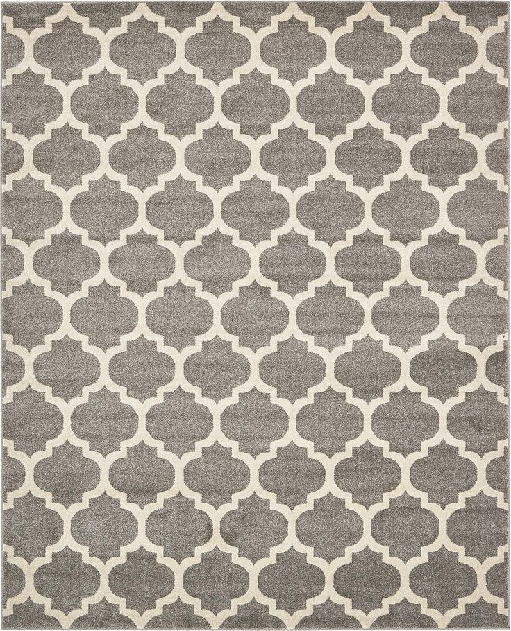Dark Gray 8' x 10' Trellis Rug | Area Rugs | iRugs UK
