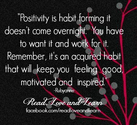 Positivity quote via www.Facebook.com/ReadLoveandLearn