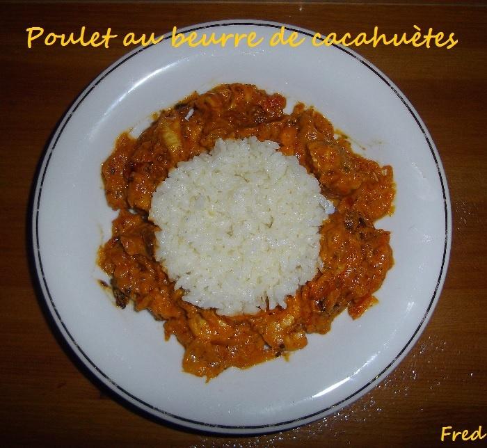 [Fred] Une recette originale et délicieuse!  http://kazcook.com/blog/archives/689-Poulet-au-beurre-de-cacahuetes.html
