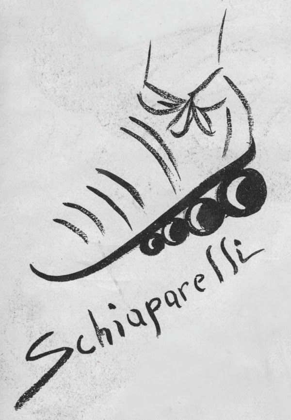 1939 | Elsa Schiaparelli  Four sphere heel sandal designed by André Perugia      Accessories included gloves with fingers trimmed in wrinkled lace and dark necklaces in moiré ribbon with dangling coins, acorns and other bibelots. Schiap had Perugia make a pair of evening sandals in blue kid piped in gold which had three revolving balls under the instep based on the design of a roller skate.    BillyBoy  From: Frocking Life: Searching for Elsa Schiaparelli  (Rizzoli Ex Libris, 2016)