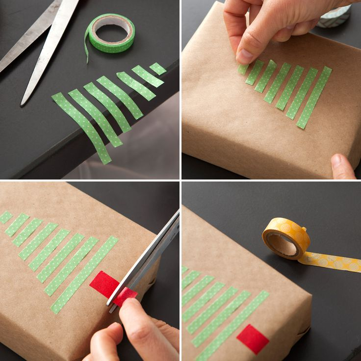 Save this easy holiday DIY to decorate Christmas presents with washi tape.