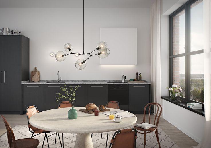 Oscar Properties  #oscarproperties  marble, table, kitchen, lamp, window, chairs, view