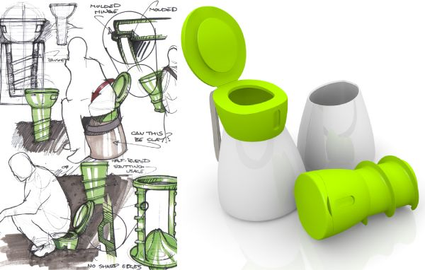 7 best eco toilets images on pinterest bathrooms toilet for Innovative industrial design products