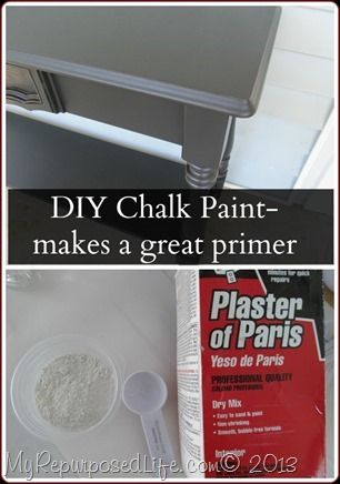 DIY Chalk Paint primer @gail wilson My REpurposed Life