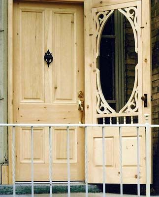 Hoffmeyer's Mill manufactures Quality Old Fashioned screen storm Doors custom made using historic equipment in daily use since 1906.