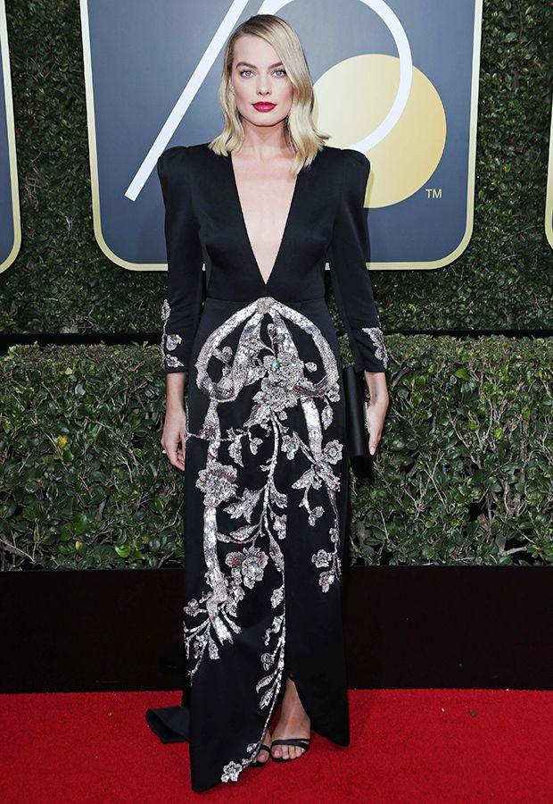 Margot Robbie a un regard magnifique au Golden Globe | La mode de Suzanne