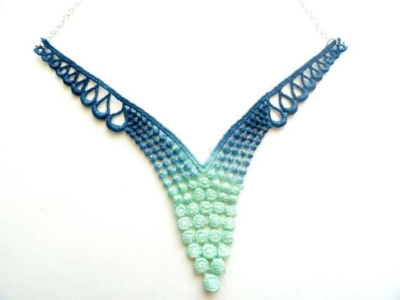 Hand-dyed Lace Necklace
