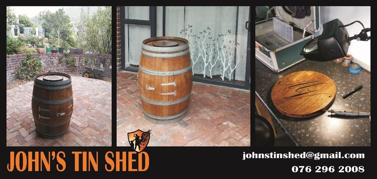 Customised French wine barrel for a Frenchman from Bordeaux.... I hope you have many happy hours making memories around your barrel!