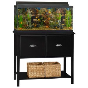 Ameriwood durham 37 40 gallon tank stand aquarium stands for Petsmart fish tank stand