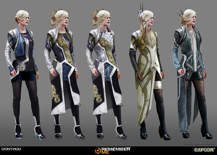 Some female concept art that I did for the High paris for the video game REMEMBER ME Dontnod Entertainment/Capcom