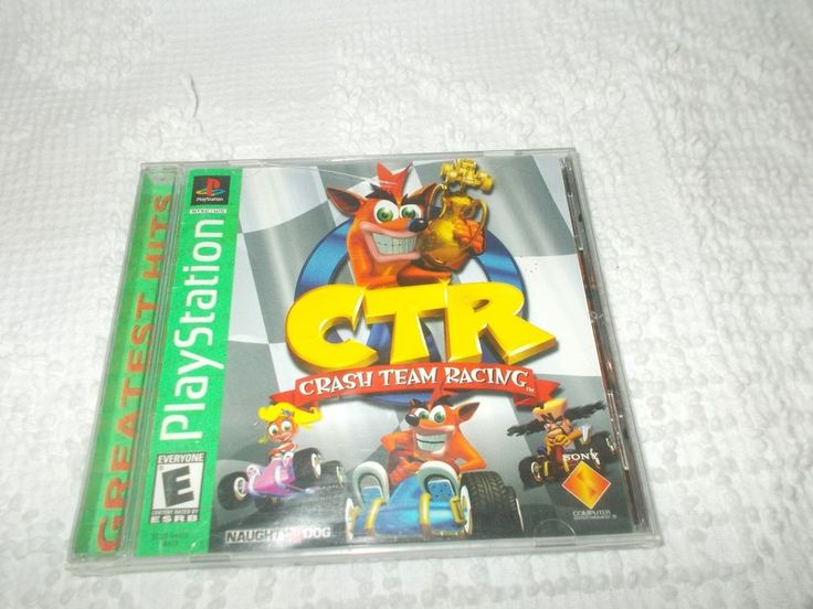 PlayStation 1 PS1 CTR Crash Team Racing Greatest Hits Complete Tested Works