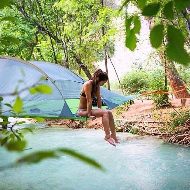 """Check out @tentsile for more amazing tree tent set ups! Use the promo code """"NakedPlanet10"""" on your next purchase to receive a 10% discount! (Photo: @minayounglee / @taylormichaelburk)"""