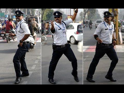 Traffic police control traffic with Bollywood dance https://www.youtube.com/watch?v=G7z3G_h2KHU