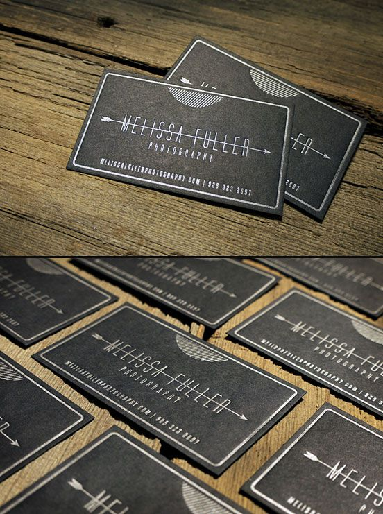 Letterpress Business Cards black and silver idea inspiration