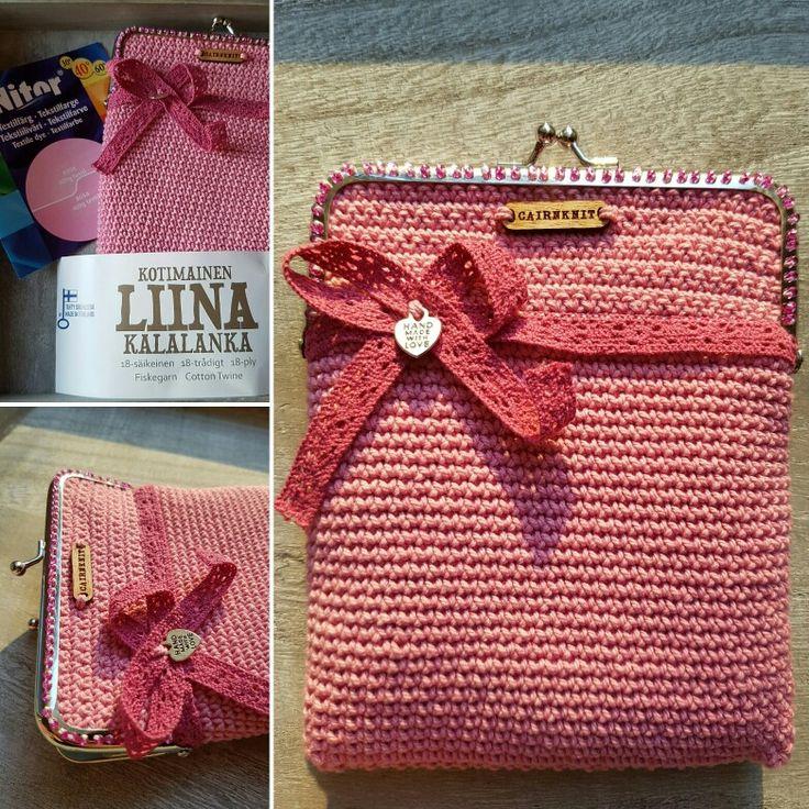 Croshet litle purse, self dyed cottonyarn