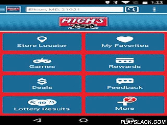 High's  Android App - playslack.com ,  Find the nearest Highs Convenience Store! This is Highs like you've never seen it before! We're committed to fueling your journey with whatever fuel that may be. From high quality gasoline, to custom made subs and sandwiches, Highs has it all. Features: Find a store and get directions, see gas prices, get coupons to instantly use on your smartphone, see the latest promos, view store menus and amenities and play games to win prizes!